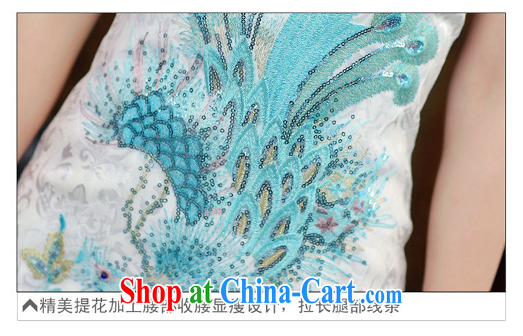 2015 new daily improved cheongsam shows the tea-package and short cheongsam dress dress women 983 Blue on white Phoenix S pictures, price, brand platters! Elections are good character, the national distribution, so why buy now enjoy more preferential! Health