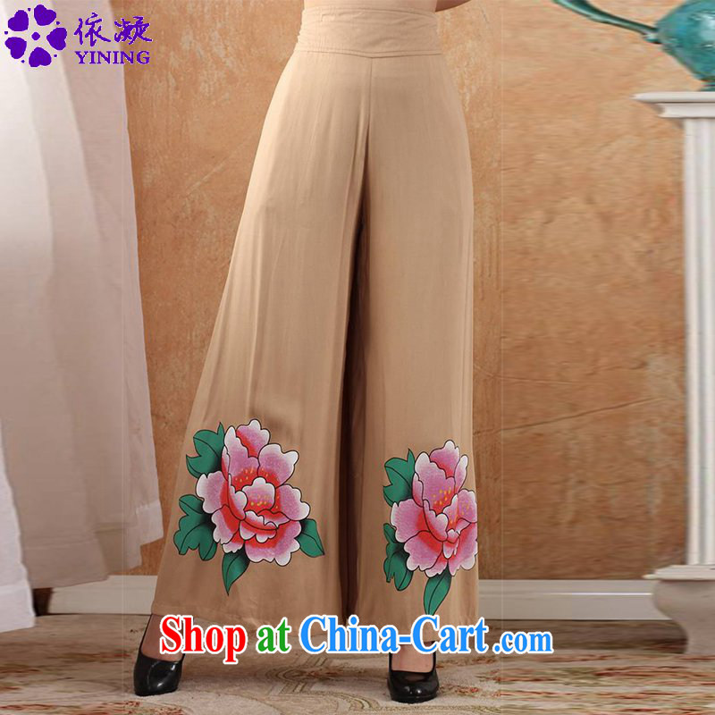 According to fuser stylish new clothes hand-painted pants horn pants show Apparel clothing Tang pants WNS_2369 _3 - 3 _2 XL