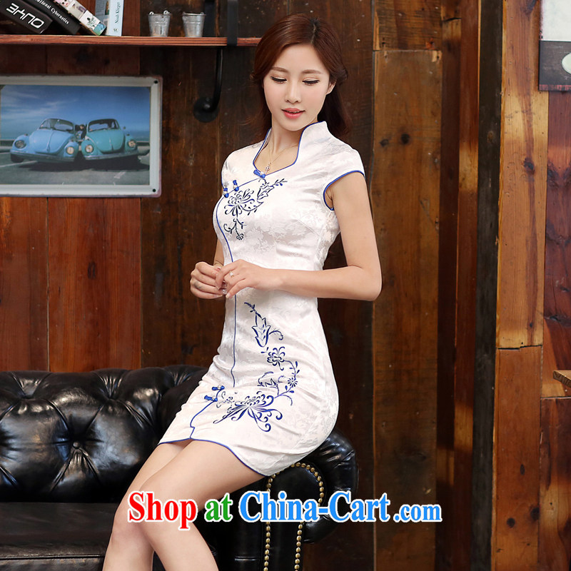 Hong Kong love her elegant antique cheongsam dress spring and summer fashion 2015 new improved daily cheongsam dress