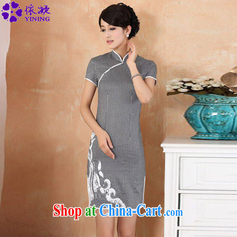 According to fuser summer stylish new ladies retro ethnic wind improved qipao, for a tight snap-cultivating short cheongsam dress WNS_2325 _ - _1 L