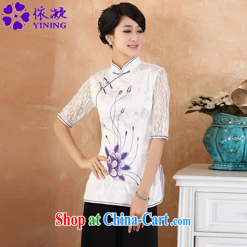 According to fuser new female daily improved Chinese qipao, for a tight stitching cultivating short-sleeve Tang Replace T-shirt WNS_2339 _ 1 _3 XL