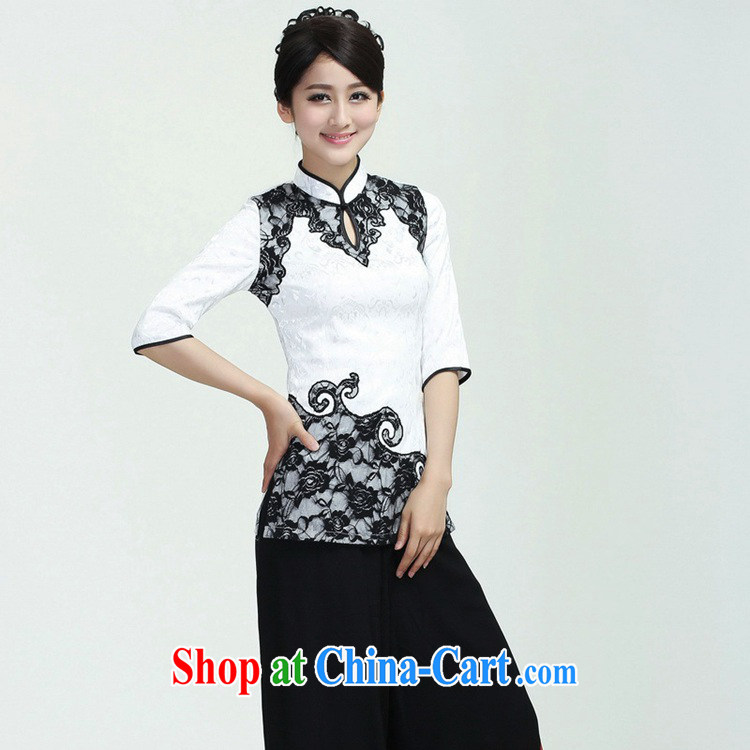 According to fuser new female improved Chinese qipao stylish, territorial waters drop hard-pressed to spend cultivating 7 cuff Tang fitted T-shirt WNS/2371 # 1 #3 XL pictures, price, brand platters! Elections are good character, the national distribution, so why buy now enjoy more preferential! Health