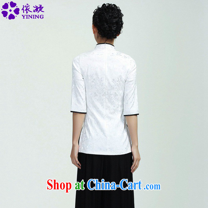 According to fuser new female improved Chinese qipao stylish, territorial waters drop hard-pressed to spend cultivating 7 cuff Tang Replace T-shirt WNS/2371 # 1 #3 XL, fuser, and shopping on the Internet