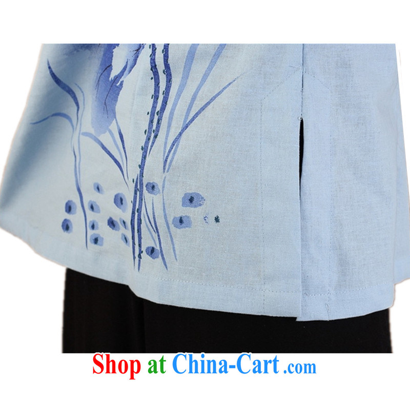 According to fuser new female daily improved Chinese qipao, for classical-tie suit 7 cultivating a cuff Tang Replace T-shirt WNS/2379 #3 - 3 purple 3 XL, fuser, and shopping on the Internet