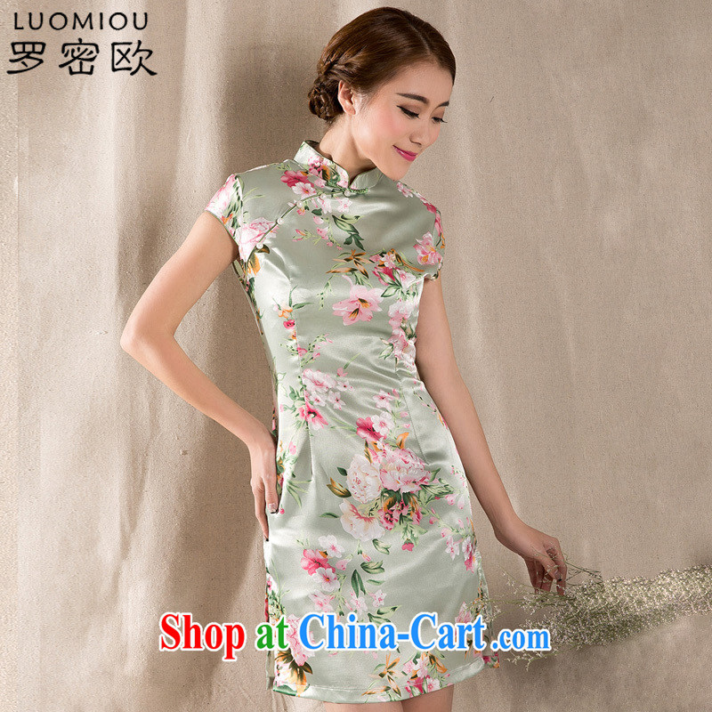 Romeo 2015 summer New Tray Charge-back stamp arts and cultural Ethnic Wind antique Chinese wind cheongsam dress Z 1215 fancy M