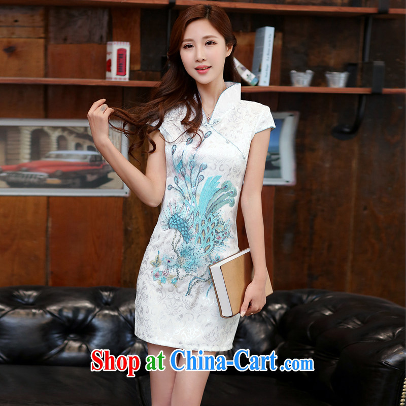 Well, according to the load 2015 summer women's clothing new improved sexy outfit, for Dress short-sleeved short career with summer white XL