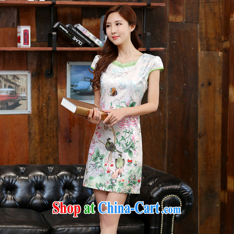 Well, according to 2015 summer dress new ethnic wind cheongsam dress retro daily improved jacquard career with skirt summer Dan Feng cited butterfly M