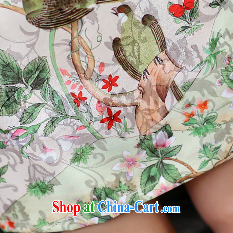 Well, according to 2015 summer dress new ethnic wind cheongsam dress retro daily improved jacquard career with skirt summer Dan Feng cited butterfly M, better (YAJIAYI), online shopping