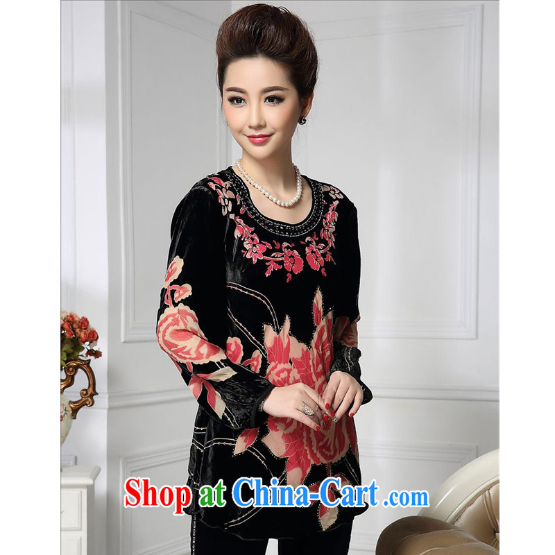 Forest narcissus 2015 spring loaded on new small skirt with flower spike collar Pearl Chinese mother with silk stitching sauna Silk Velvet jacket HGL - 478 photo color XXXXL