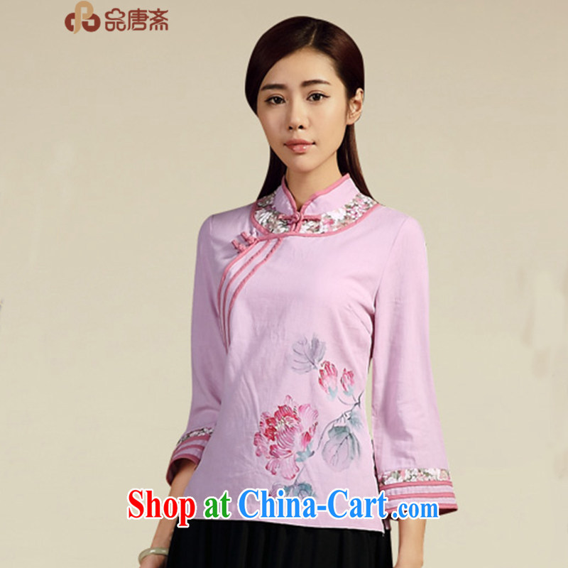 MR HENRY TANG (Id al-Fitr spring and summer new 2015 National wind cotton the female Chinese antique dresses beauty pre-sale, April 20 light purple XL