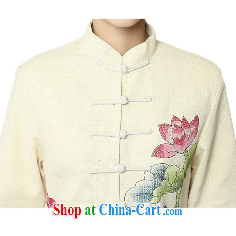 According to fuser spring stylish new ladies retro improved Chinese qipao, who has been ill-equipped hand-painted long-sleeved Tang jackets WNS/2390 # 1 #3 XL, fuser, and shopping on the Internet