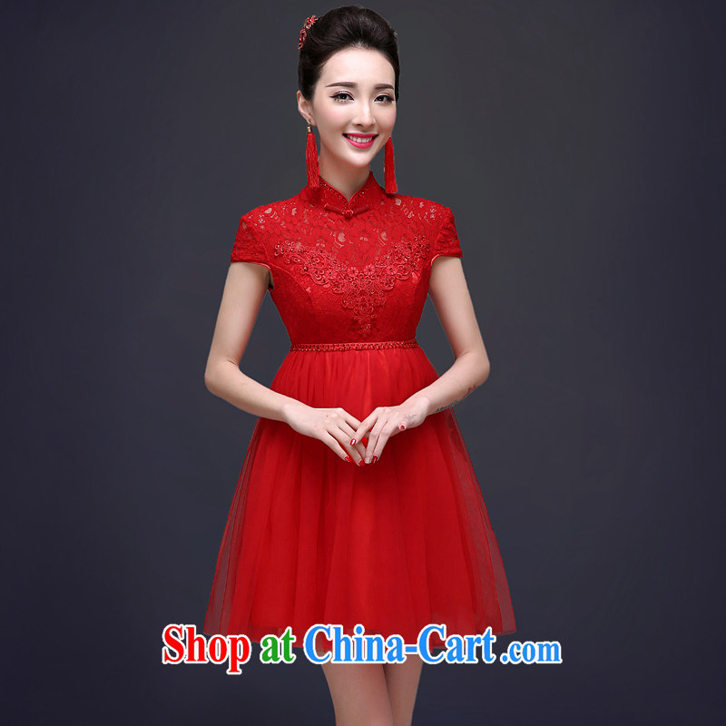 A good service is 2015 bridal toast clothing spring and summer high waist red wedding dresses summer Chinese Dress pregnant red 2 XL