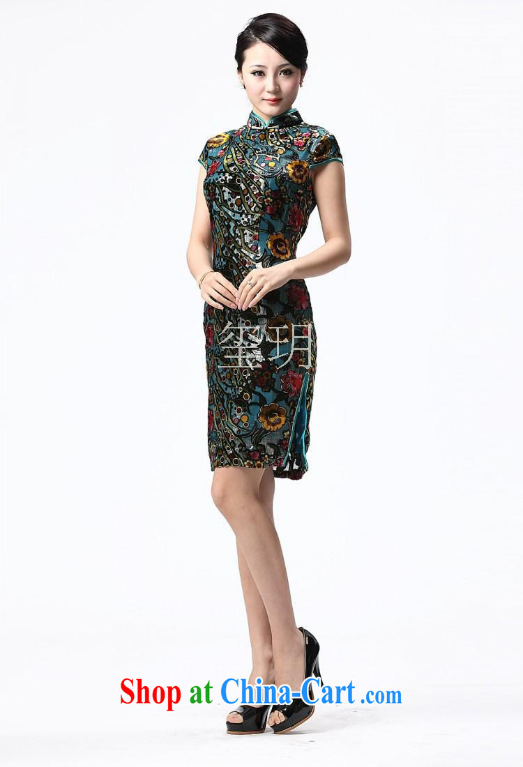2014 new cheongsam dress summer trendy short-sleeved cultivating improved cheongsam cheongsam wholesale picture color XXXL pictures, price, brand platters! Elections are good character, the national distribution, so why buy now enjoy more preferential! Health