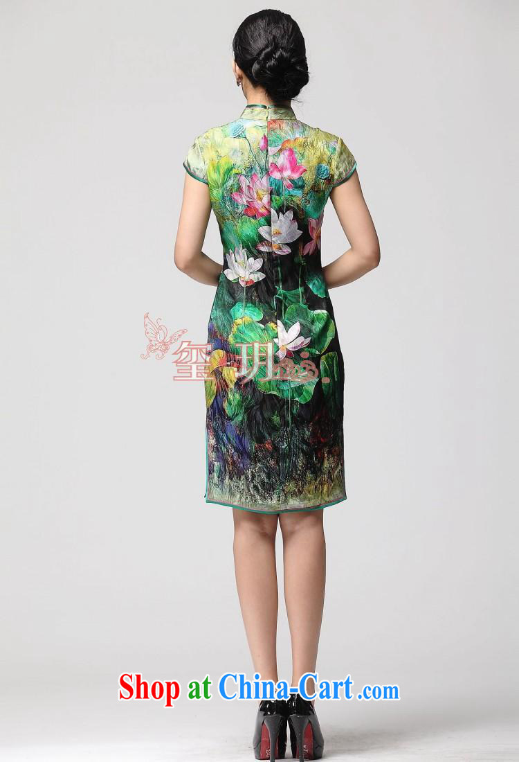 2014 new stylish Lotus summer improved cheongsam beauty double-flap silk day dresses picture color XXL pictures, price, brand platters! Elections are good character, the national distribution, so why buy now enjoy more preferential! Health