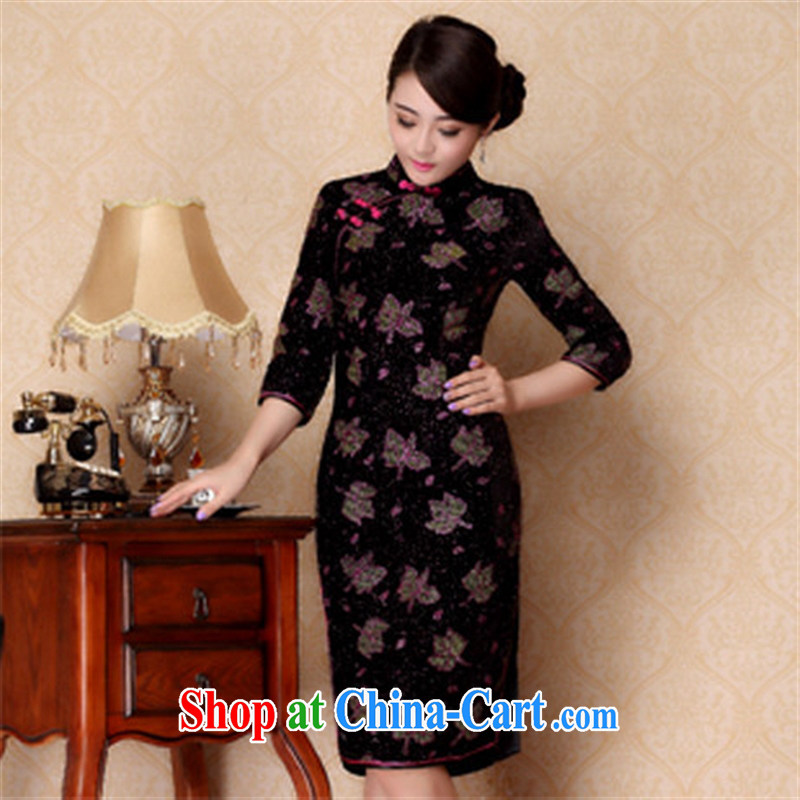 2014 new, improved autumn fashion cuff wool outfit cuff in Shenzhen cheongsam wholesale red XXXL