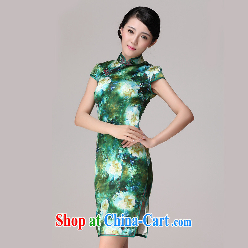 Mr Ronald ARCULLI, Silk Cheongsam improved Cultivating Female qipao qipao day long, picture color XXL