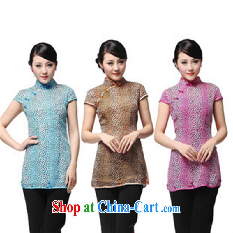 Elegant Leopard Tang Replace T-shirt dresses T-shirt girls snow woven genuine Chinese T-shirt red XXXXL