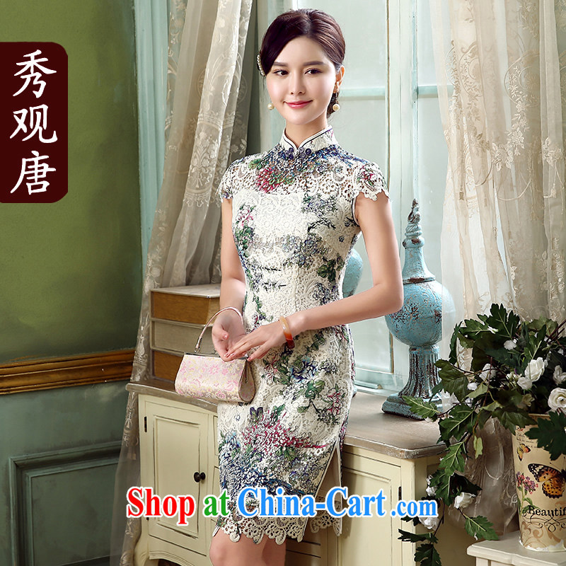 The CYD HO Kwun Tong' spend the summer 2015 new sense of improved modern day qipao dresses QD 5320 fancy XXL