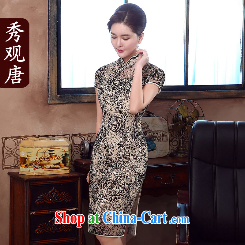 The CYD HO Kwun Tong' Agency spent summer 2015 new daily retro dresses improved stylish dresses QD 5333 fancy M