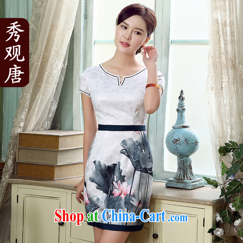 The CYD HO Kwun Tong' I should be grateful if you would have known antique stamp cheongsam dress summer 2015 new improved stylish dress Warm-hearted mother with fancy L