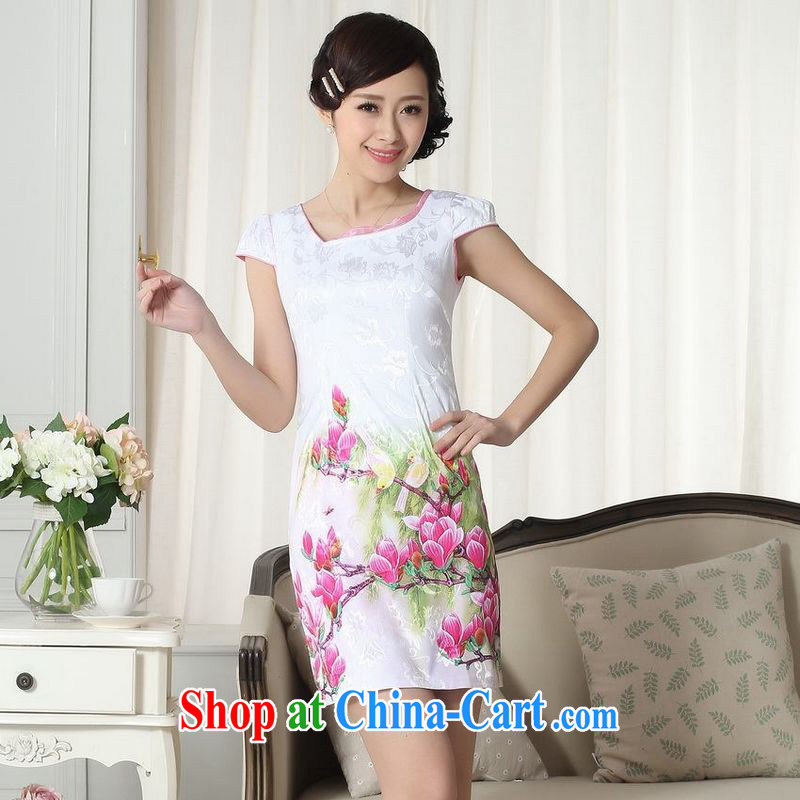 Floor is floor summer new female elegance short Chinese qipao improved graphics thin short cheongsam picture color 40