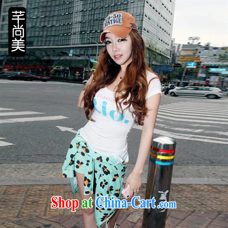 Ya-ting store summer 2015 women with new Korean version, generation, stamp duty tight cultivating short-sleeved T pension white L