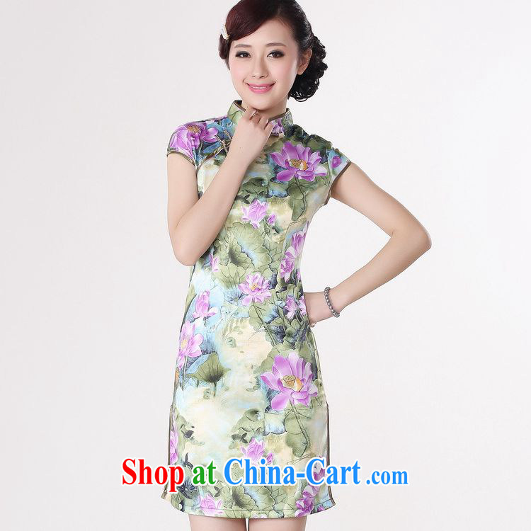 According to fuser new female retro improved Chinese qipao Classic tray snaps cultivating short cheongsam dress LGD/D 0200 # -B orange 2 XL pictures, price, brand platters! Elections are good character, the national distribution, so why buy now enjoy more preferential! Health