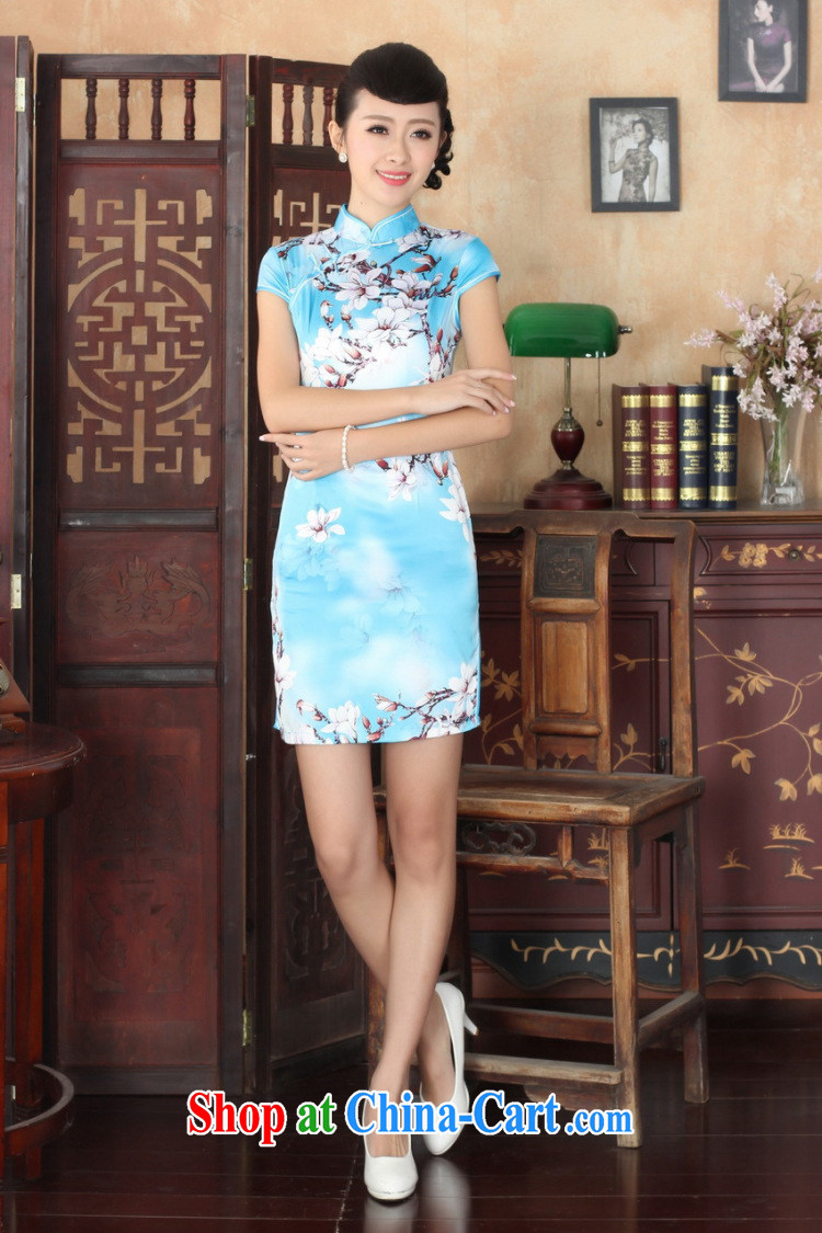 Yet, Ms. building new summer elegance Chinese qipao Chinese graphics thin short cheongsam picture color 2 XL pictures, price, brand platters! Elections are good character, the national distribution, so why buy now enjoy more preferential! Health