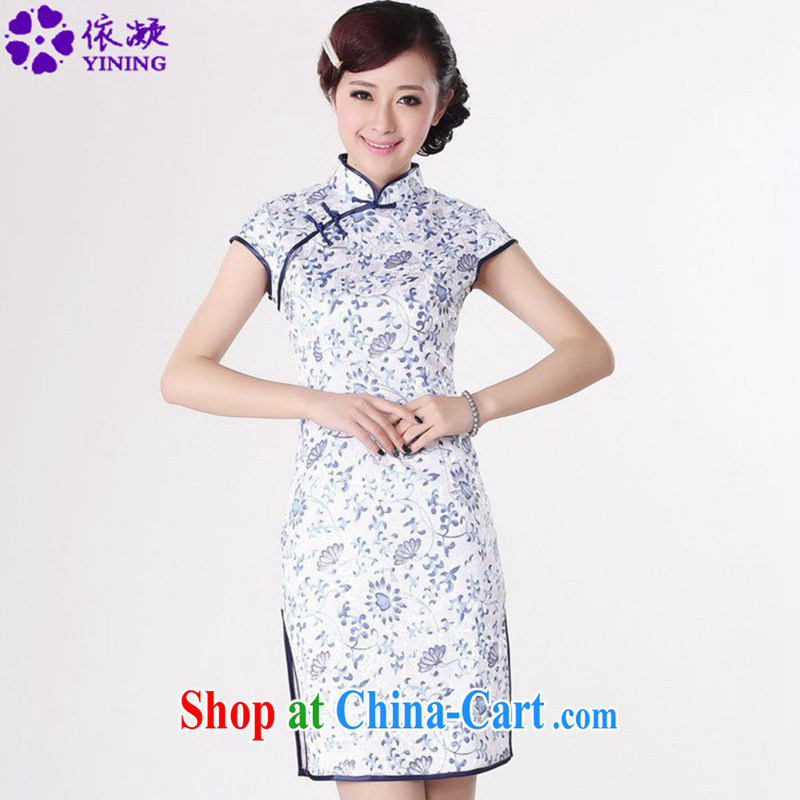 According to fuser summer stylish new ladies retro improved Chinese qipao, for classical-tie beauty short-sleeved cheongsam dress LGD_D _0205 figure 2 XL