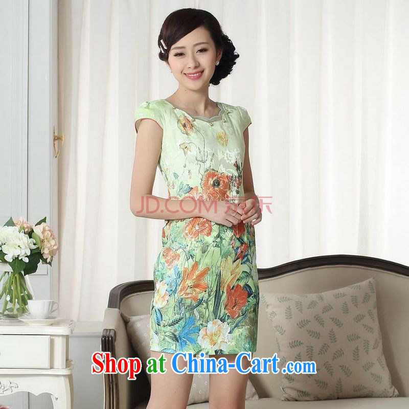 For Pont Sond� Diane summer new, elegance, short Chinese qipao new improved cheongsam dress picture color XXL
