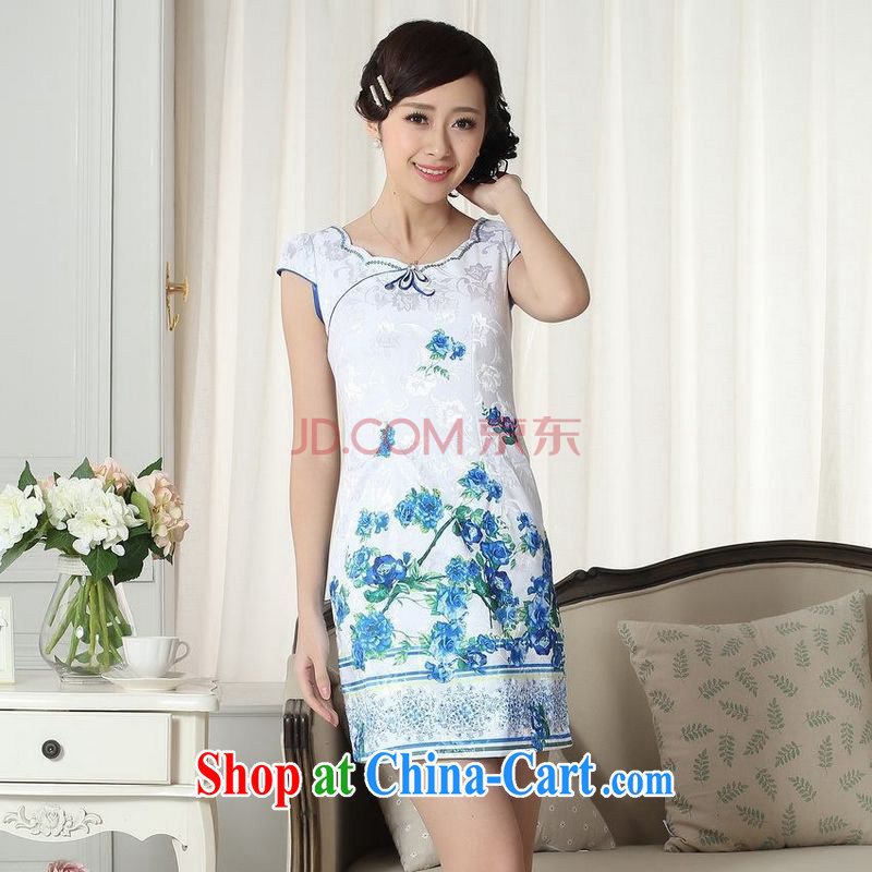 For Pont Sond�� Diana Lady stylish jacquard cotton cultivating new Chinese cheongsam dress new improved cheongsam dress picture color XXL