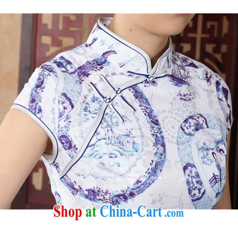 According to fuser summer new female ethnic wind improved Chinese qipao, for a tight short cultivation, the Lao People's Chinese cheongsam dress LGD/D #0226 figure 2 XL, fuser, and shopping on the Internet