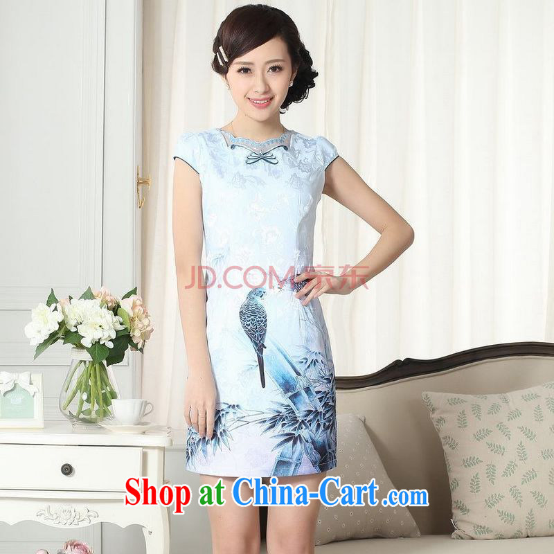 Nigeria, the female new lady stylish elegance Sau San Tong load cheongsam dress new improved cheongsam dress picture color XXL