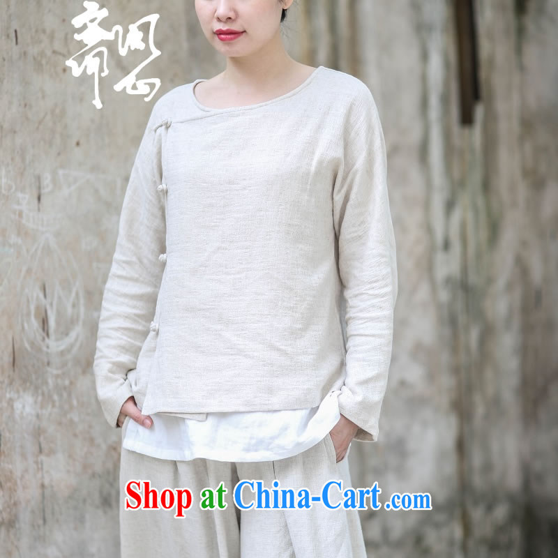 Asked about Ramadan and the Hyatt heart health female summer new Zen jacquard cotton Ma T-shirt-tie-neck simple units, the Commission the Commission natural T-shirt + pants _797 are code