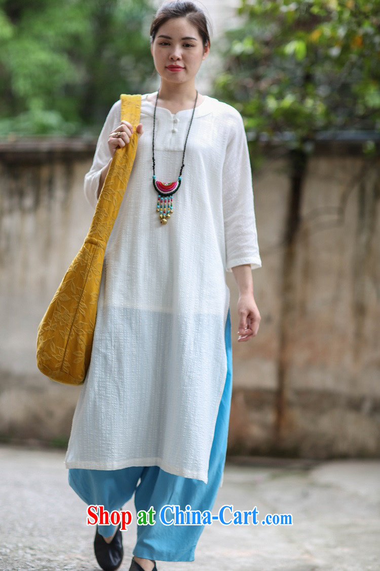 Ask a vegetarian (Yue heart health female summer new V collar jacquard cotton skirt the robe long Zen jacquard T-shirt 1905 V white collar shirt $526 per capita, pictures, price, brand platters! Elections are good character, the national distribution, so why buy now enjoy more preferential! Health