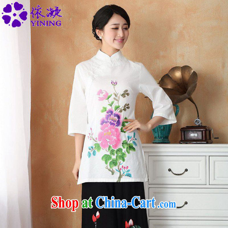 Under the fuser and stylish new ladies retro name ethnic-Chinese qipao, for a tight hand-painted 7 short sleeve T-shirt with WNS_2393 _ 2 _2 XL