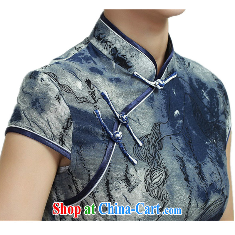 According to fuser new female daily improved Chinese qipao is a flap Classic tray snaps floral beauty short Chinese qipao dress WNS/2368 #3 - 3 #2 XL, fuser, and shopping on the Internet