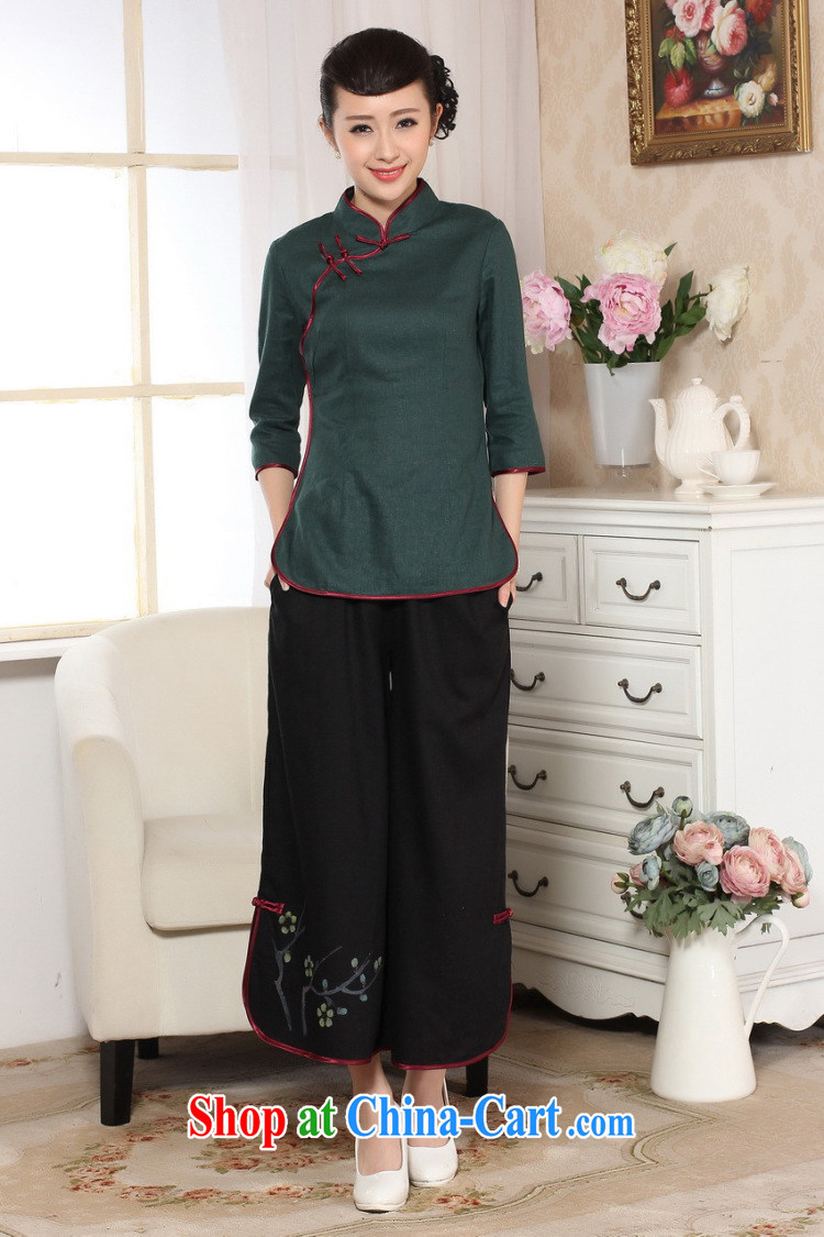 Cheng Kejie, Wiesbaden, 2015 spring and summer female Tang women pants, Ms. Tang pants Han-wide leg Trouser press Ethnic Wind women's clothing m yellow M pictures, price, brand platters! Elections are good character, the national distribution, so why buy now enjoy more preferential! Health