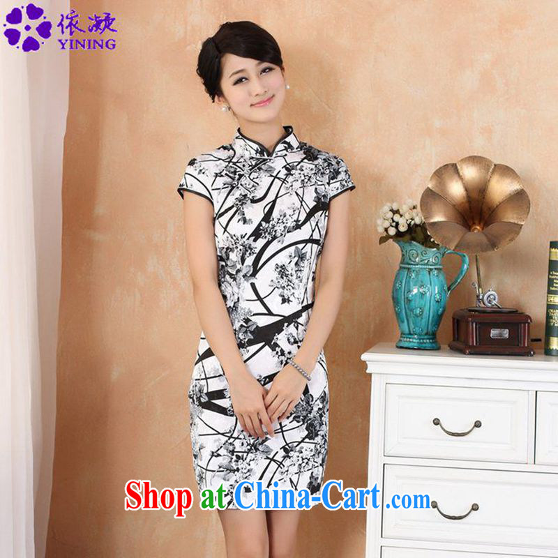 According to fuser new female retro improved Chinese qipao Classic tray for cultivating short Chinese qipao dress WNS_2328 _ as figure 2 XL