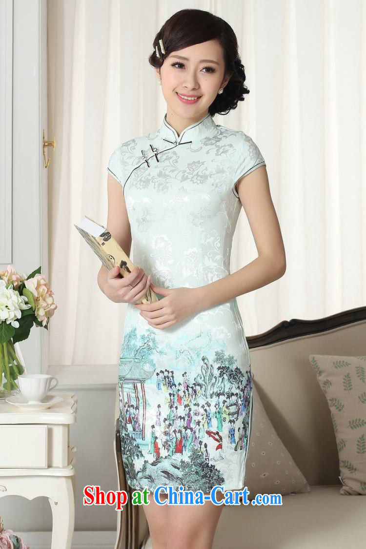 Nigeria, the Summer new lady fashion beauty short Chinese qipao dress cotton robes picture color XXL pictures, price, brand platters! Elections are good character, the national distribution, so why buy now enjoy more preferential! Health