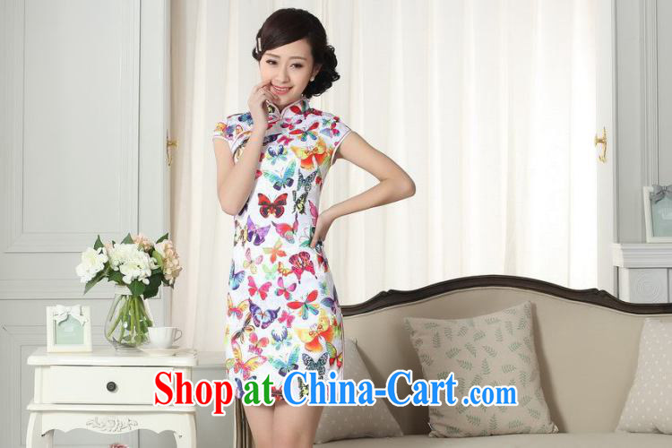 Nigeria, the lady stylish jacquard cotton cultivating short cheongsam dress new Chinese qipao gown picture color XXL pictures, price, brand platters! Elections are good character, the national distribution, so why buy now enjoy more preferential! Health