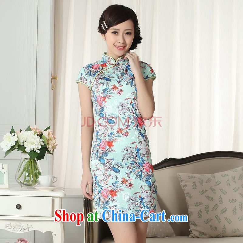 Nigeria, the new summer elegance Chinese qipao Chinese graphics thin short flag picture color XXL, Nigeria, and, shopping on the Internet