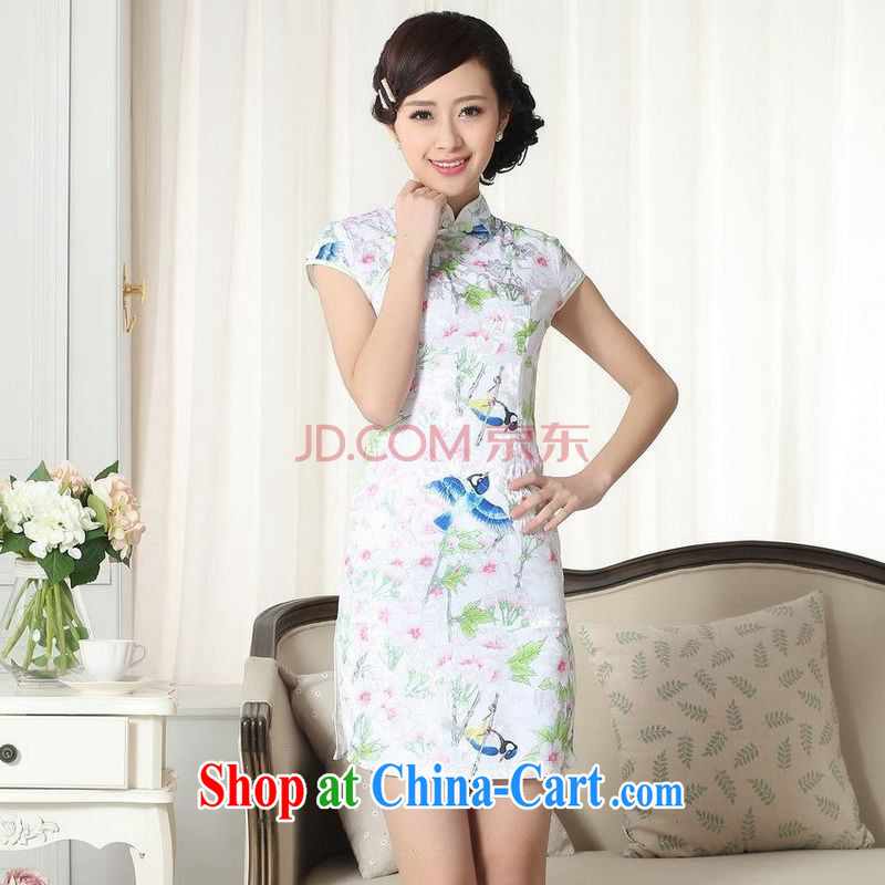 Nigeria, the new summer elegance Chinese qipao Chinese graphics thin short cheongsam picture color XXL, Nigeria, and shopping on the Internet