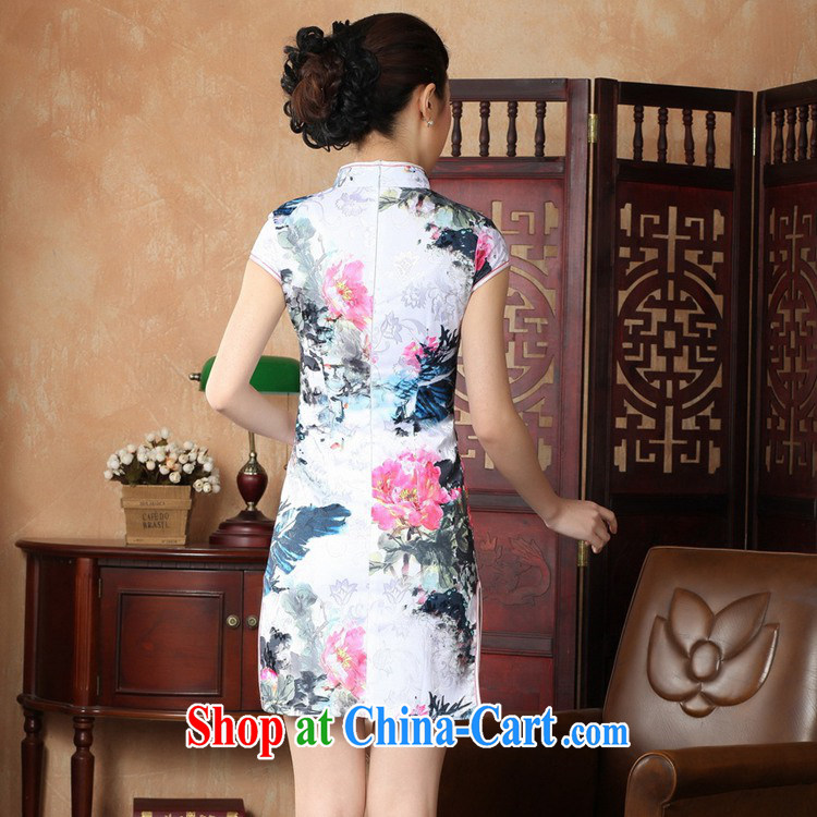 According to fuser summer new retro improved Chinese Chinese qipao, for a tight Classic tray snaps cultivating short-sleeve cheongsam dress LGD/D #0224 figure 2 XL pictures, price, brand platters! Elections are good character, the national distribution, so why buy now enjoy more preferential! Health