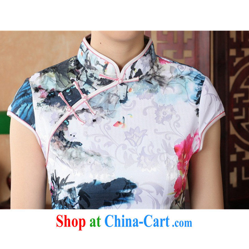 According to fuser summer new retro improved Chinese Chinese qipao, for a tight Classic tray for cultivating short-sleeve cheongsam dress LGD/D #0224 figure 2 XL, fuser, and shopping on the Internet