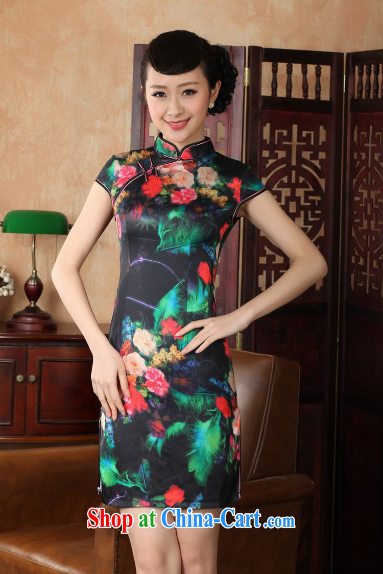 According to fuser summer new, female retro improved Tang load, served up for a hard disc for cultivating short Chinese qipao dress LGD/D 0231 # -A green feather 2XL pictures, price, brand platters! Elections are good character, the national distribution, so why buy now enjoy more preferential! Health