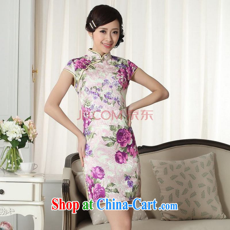 For Pont Sond�� Diane new summer elegance Chinese qipao Chinese graphics thin short cheongsam picture color XXL
