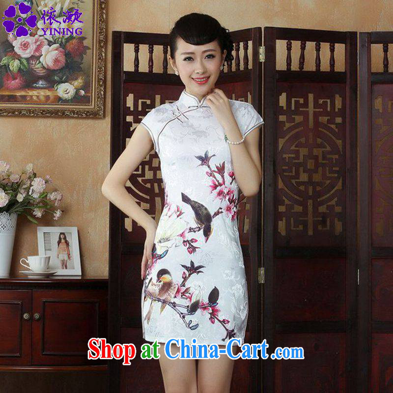 According to fuser summer stylish new ladies retro improved Chinese Chinese qipao, for a tight beauty short Chinese qipao dress LGD/D #0248 figure 2 XL