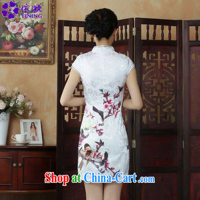 According to fuser summer stylish new ladies retro improved Chinese Chinese qipao, for a tight budget cultivating short Chinese qipao dress LGD/D #0248 figure 2 XL, fuser, and online shopping