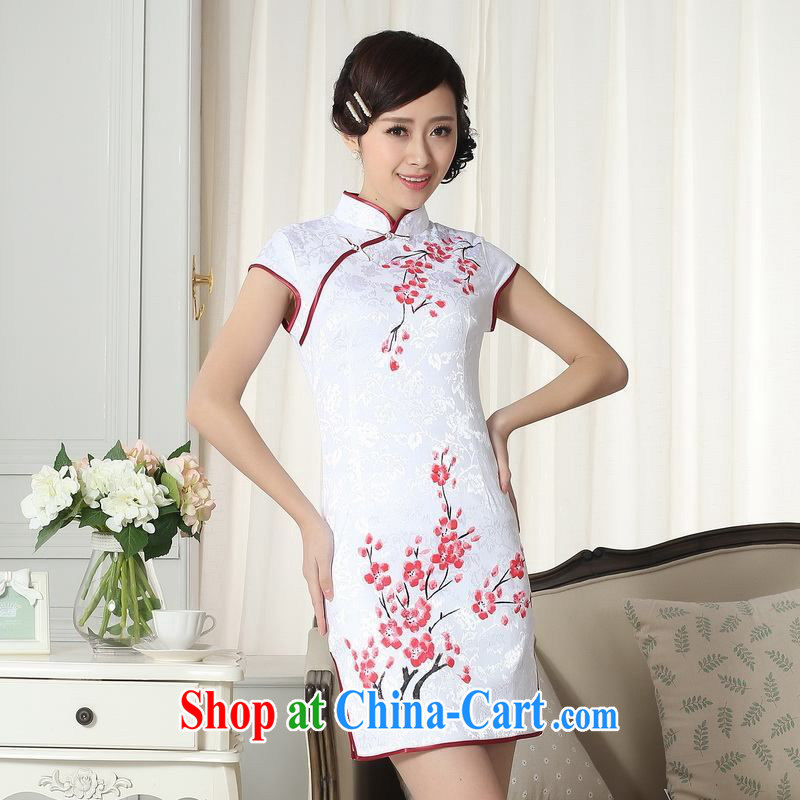 Floor is floor summer new dresses women's clothing stylish elegance Chinese qipao hand painted dresses D 0092 2 XL